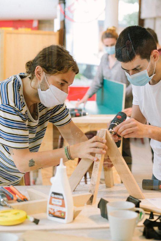 bienvu upcycling design lieux paris ateliers chutes libres camille chardayre amandine langlois portrait photographie francois rouzioux 17